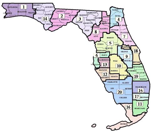 Florida Criminal Justice Circuit Profiles - Us circuit map