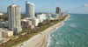 aerial of Miami Beach